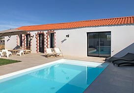 Villa for 8 with pool at Bretignolles sur mer
