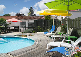Vendee holiday gite with semi-sunken pool