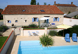 Vendee cottages with heated pool